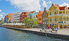 The shops, cafes and restaurants along the wharf of Curacao in the Caribbean, #0200