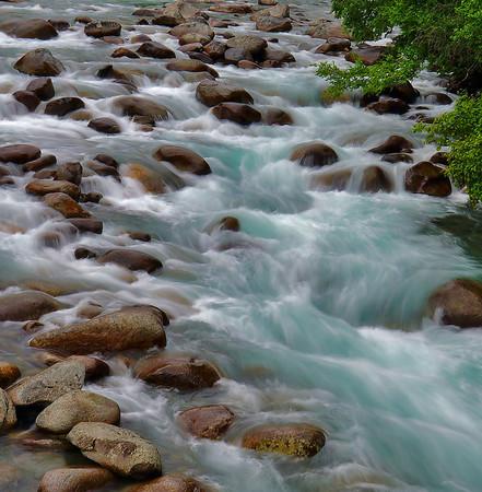 Rushing waters of streams near Anchorage, Alaska, #0439
