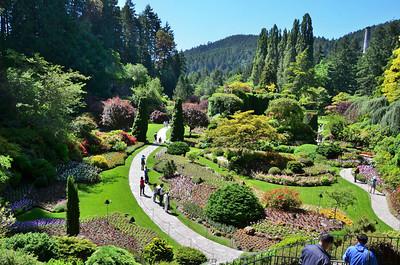 Buchart Gardens, Victoria Island BC