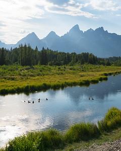 The Grand Tetons National Park.