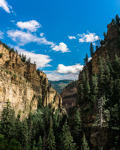 Looking back from Hanging Lake