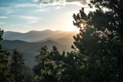Sunset about Nederland, Colorado