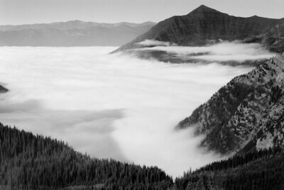 Fog at Glacier National Park
