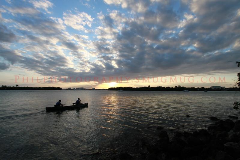Sunset at Oleta River Sate Park, FL.