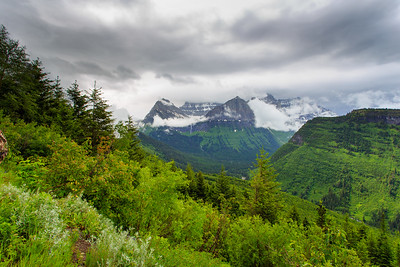 Scenic of Glacier National Park, Montana.