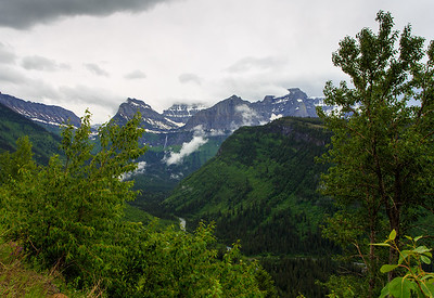 Mount Oberlin - Glacier National Park Peak.