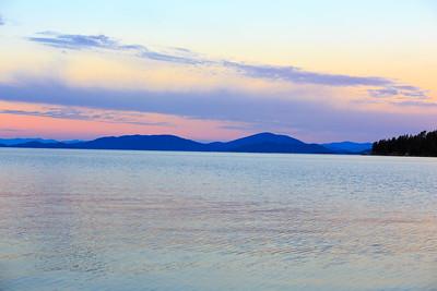 Sunset over Flathead Lake.