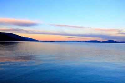 Sunset over Flathead Lake.