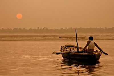 Sunset on the Ganges
