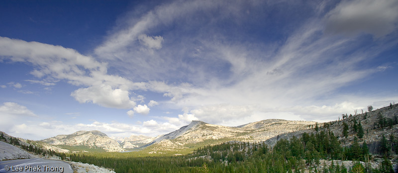 Panoramic view from Olmsted Point Yosemite NP, California, USA