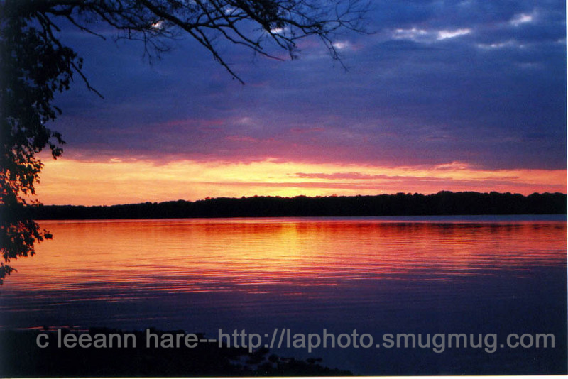 09-sunset lak kosh oct 2001