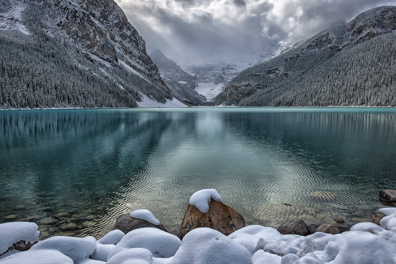 First Snow at Lake Louise
