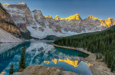 First Light on the Ten Peaks