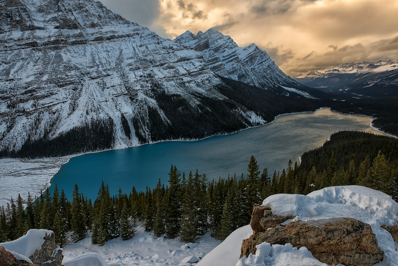 Snowy Peyto Sunset
