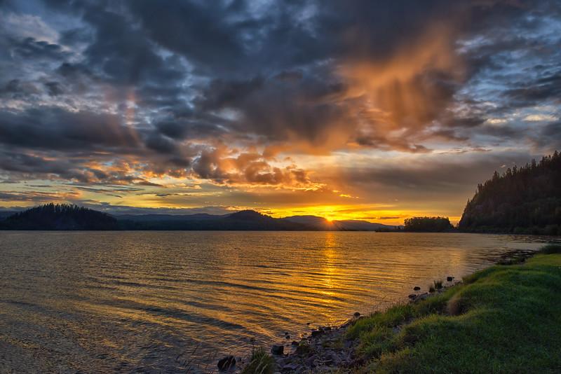 Sunset Over Fraser Lake