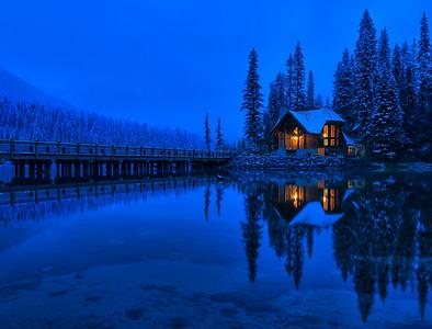 Blue Hour at Emerald Lake Lodge