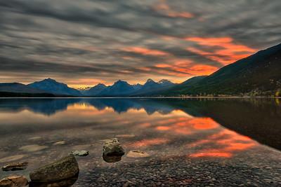 Morning at McDonald Lake