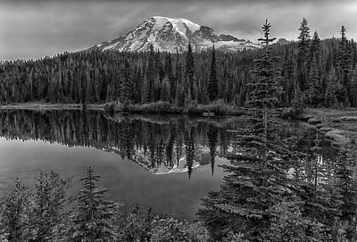 Mt. Rainier in Monochrome