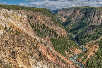 View of the Yellowstone River From Inspiration Point