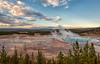 Sunset at Grand Prismatic Spring