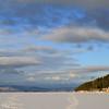 Frozen fjord. Towards Oslo