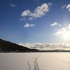 Towards Svartskog on the frozen fjord