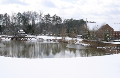 The three inches of snow that fell in Roswell between Friday, Feb. 12, and early Saturday morning, Feb. 13, made the grounds of St. George Village look like a winter wonderland.