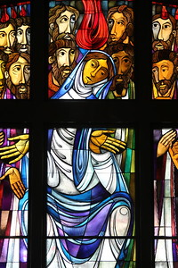 Stained glass window @ Immaculate Heart of Mary Church