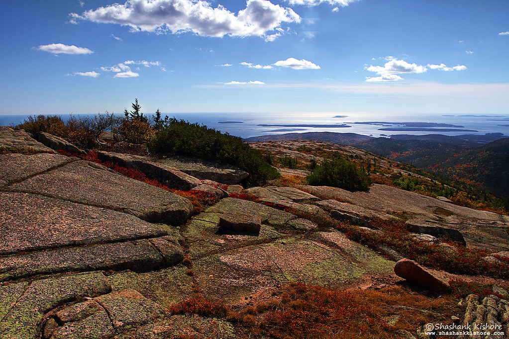 Location - Cadillac Mountain, Acadia National Park, ME, USA.<br /> (Shot in the second week of Oct 2010.)<br /> Canon 7D, 17-40 @17mm, f11, ISO-125, Circular Polarizer.
