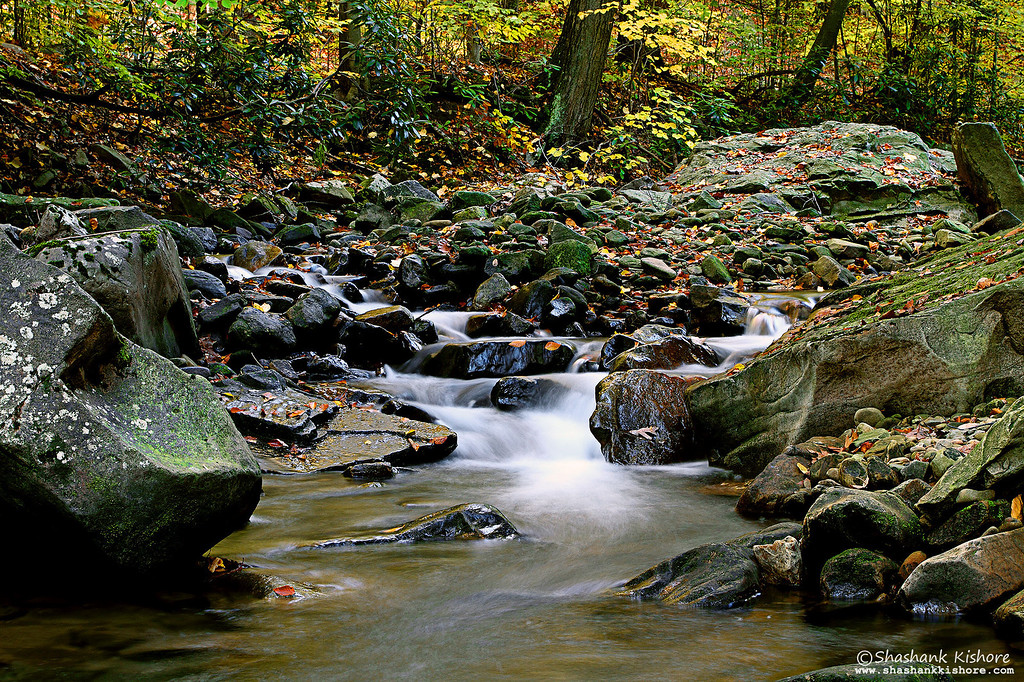 Location - Linn Run State Park, PA, USA<br /> (Third Week of  Oct 2010)<br /> Canon 7D, 17-40@40mm, f13, 2.5Sec, ISO-100, Tiffen 0.9 ND + Circular Polarizer.