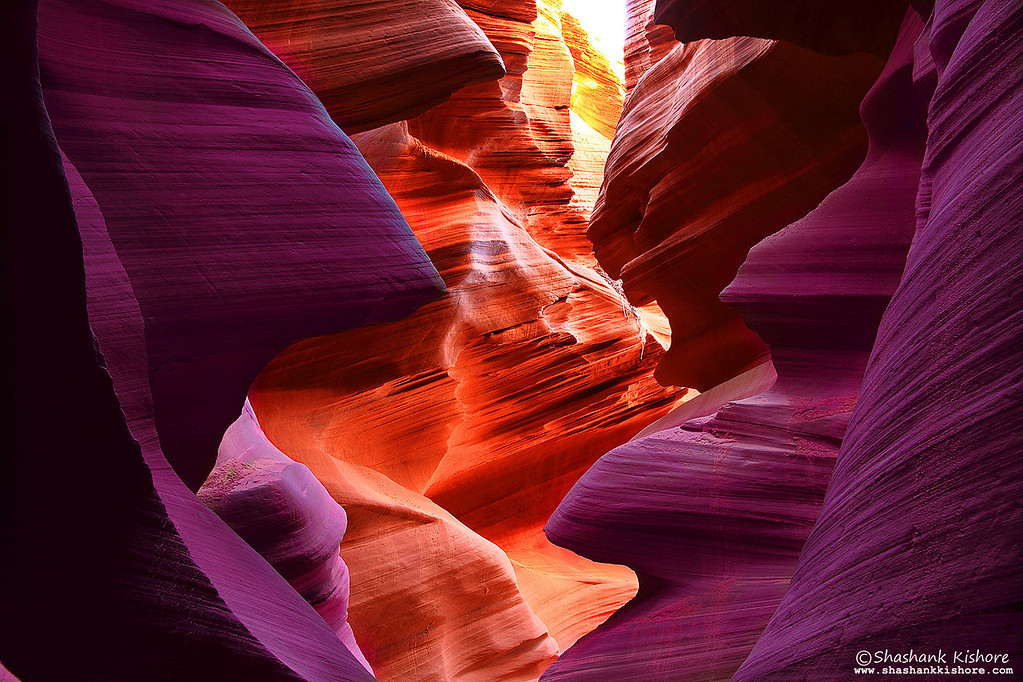 Location - Lower Antelope Canyon, Page, AZ, USA<br /> (Second week of Sept 2010)<br /> Canon 7D, 17-85@33mm, f16, 5sec, ISO-100