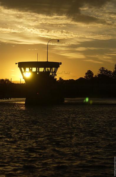 Swansea bridge at sunset. Swansea, NSW