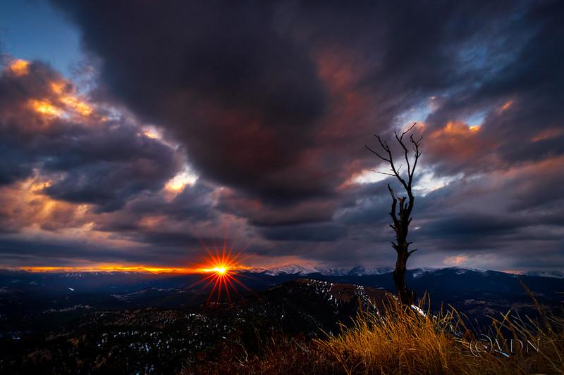 Sunset at Sugarloaf Mountain, Boulder, CO