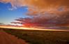 Pawnee National Grassland, Colorado<br /> Sunset after an evening storm.