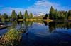 Reflections in the stream<br /> Grand Teton National Park, Wyoming