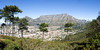A panorama view of Table Mountain from the park at the top of Signal Hill looking out over the city of Cape Town, South Africa.