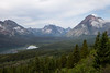 Scenic view of Two Medicine Lake and some of the nearby mountains in Glacier National Park.