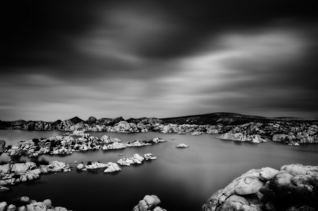 Long exposure, Granite Dells, Arizona