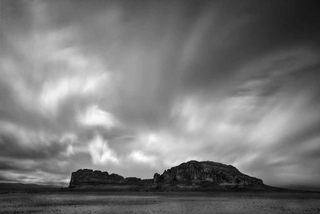 Something wicked this way comes. Storm over fort rock, Oregon.<br /> © Douglas Remington - Ethereal Light Photography, LLC.  All Rights Reserved. Do not copy or download.