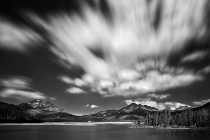A storm approaches, Sparks lake, Oregon.<br /> © Douglas Remington - Ethereal Light Photography, LLC.  All Rights Reserved. Do not copy or download.