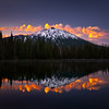 Magic and Mt. Bachelor. Sunrise and storm clouds.<br /> © Douglas Remington - Ethereal Light Photography, LLC.  All Rights Reserved. Do not copy or download.