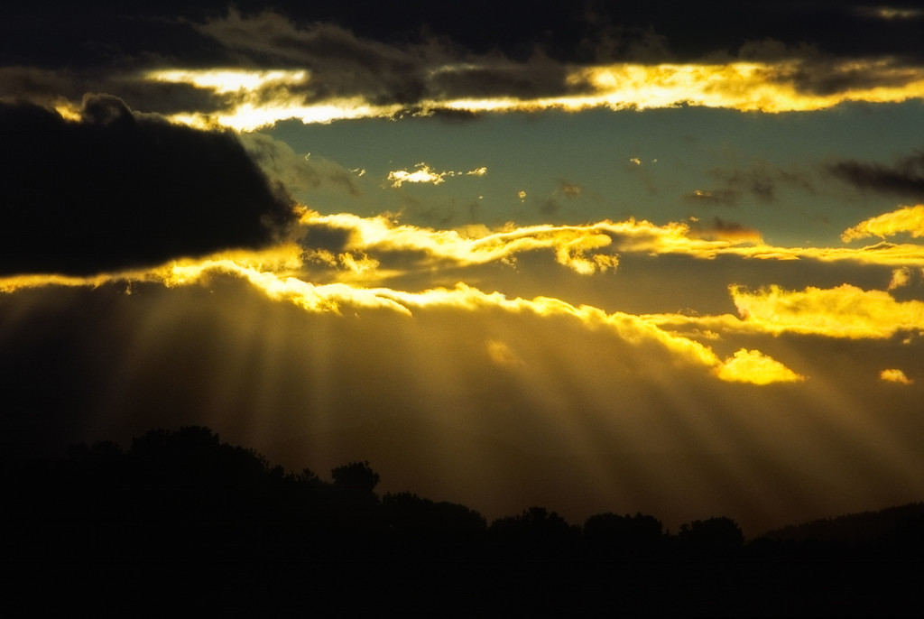 God Beams - crepuscular rays, western Oregon<br /> © Douglas Remington - Ethereal Light® Photography, LLC. All Rights Reserved. Do not copy or download.