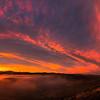 Hells Canyon sunrise panorama