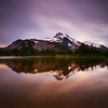 Sunrise, alpine lake, and Mt. Jefferson.