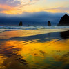 Sunset, Haystack Rock, Cannon Beach, Oregon