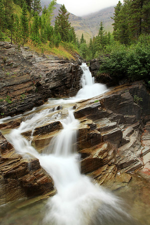 Waterfall cascade near Swift Current Motor Inn