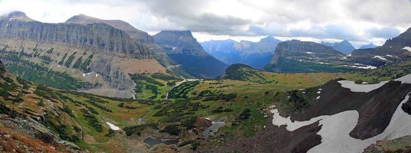 Overlooking Visitor's Center at Logan Pass