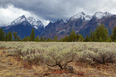 Teton Range during a storm