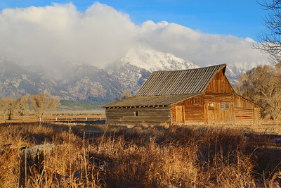 Moulton Barn in late morning