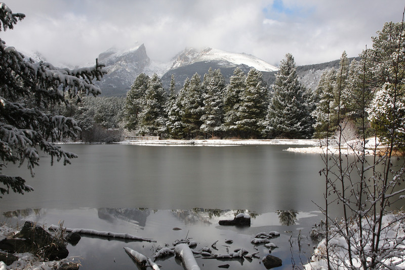 Winter Lake in Rocky Mountain National Park